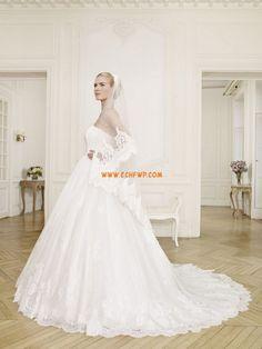 Frühling 3/4 Arm Reißverschluss Brautkleider 2014