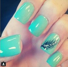 Feather nails!!
