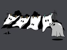 Ghost also have to wash their clothes