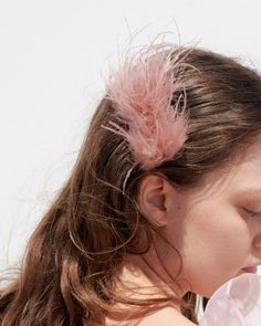 Josie Feather Hair Comb Pink Pink Feathers, Leather Pieces, Feathered Hairstyles, Knot Headband, Tie Dyed, Hair Dos, Spring Collection, Simple Outfits, Blush Pink
