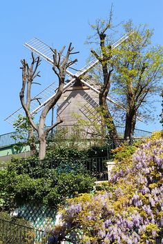 Montmartre, Paris, France. The third windmill of Montmartre that I mentioned earlier, on Rue Lepic.