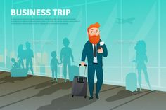 Businessman in Airport Poster