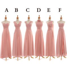 check this out!  each dress is $99 and can be done in almost any color and length! // Bridesmaids can choose whichever neckline feels best to them while still having the same fabric, color, and length      @Kate Hefti