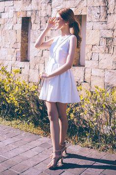 Get this look: http://lb.nu/look/7131486  More looks by Tricia Gosingtian: http://lb.nu/tgosingtian  Items in this look:  Just G Dress, Zara Heels, Kate Spade Bag   #casual #romantic #vintage