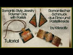 Romantic Style Jewelry , Polymer Clay with Pastels, Tutorial. Romantischer Schmuck, - YouTube