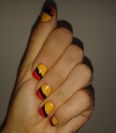 Location: Salon de Belleza Sandiego, Medellin, Colombia Date: September 2013 Nails for the world cup qualifying game on September in Barranquilla. Love Nails, My Nails, Beauty Nails, Hair Beauty, Flag Nails, Simple Nail Designs, Nail Spa, Simple Nails, Hair And Nails