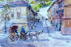 Ernő Zórád aquarell Watercolors, Google, Illustration, Painting, Art, Watercolor, Art Background, Water Colors, Painting Art