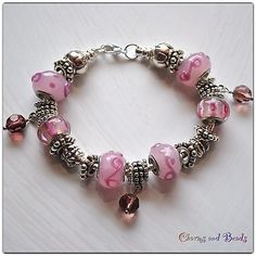 European Style Fashion  Beads  Bracelet, pink, no pandora