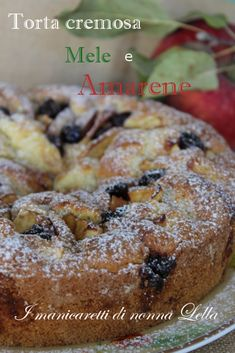 Torta cremosa mele e amarene - My list of the most healthy food recipes Tart Recipes, Snack Recipes, Dessert Recipes, Cooking Recipes, Snacks, Pie Co, Italy Food, Good Healthy Recipes, Sweet And Spicy