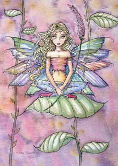 Shop Little Flower Fairy Blank Notecard created by robmolily. Fairy Sketch, Fairy Drawings, Mermaid Fairy, Elves And Fairies, Fairy Pictures, Forest Fairy, Beautiful Fairies, Flower Fairies, Illustrations