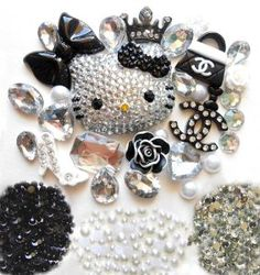 DIY 3D Blinged out Hello Kitty Cell Phone Case Resin Flat back Kawaii Cabochons Deco Kit / Set -- lovekitty,$20.99 # love that cat