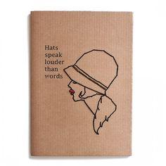 Notebook Line Rètro Hats Speak Louder Than Words