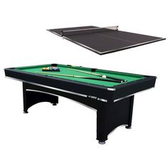 Billiard Table With Bonus Table Tennis Top   Whether Youu0027re In The Mood For  A Slow Hustle Or Fast Paced Ricocheting Action, The Triumph Sports 7 Ft.