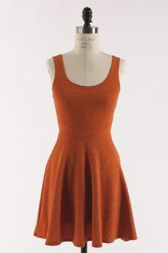 Longhorn Fashions - Burnt Orange Skater Dress, $32.00 (http://www.longhornfashions.com/burnt-orange-skater-dress/)
