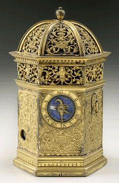 Pierre de Fobis (1506–1575), gilt-brass table clock, circa 1530, 5 inches tall, The Frick Collection, New York, bequest of Winthrop Kellogg Edey. —Michael Bodycomb photo