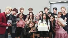Korea's top boy and girl group collaborating with each other on MAMA The more time they spend with each other, the more unsure they are of their feeling. Kpop Girl Groups, Kpop Girls, K Pop, Bts And Twice, Bts Group Photos, Bts Love, Kpop Couples, Blackpink And Bts, Korean Couple