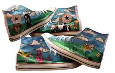 All Over Adventure Time Converse by elizabethpicardi on Etsy! she does amazing custom work!! http://www.etsy.com/listing/81645070/all-over-adventure-time-converse