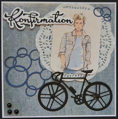 Troldinden: Konfirmationskort Boy Cards, Baby Strollers, Gave, Children, Boys, Inspiration, Crafting, Men, Fictional Characters
