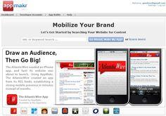 자신의 블로그나 홈페이지를 간단하게 아이폰 어플리케이션으로 만들어주는 사이트, App Makr