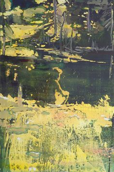 hermit by the pond 100x150cm, oil and acylic on canvas