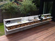 "Outstanding ""outdoor kitchen designs layout patio"" info is readily available on our internet site. Check it out and you will not be sorry you did. Outdoor Bbq Kitchen, Outdoor Kitchen Design, Outdoor Cooking, Outdoor Kitchens, Outdoor Rooms, Outdoor Living, Mediterranean Kitchen, Summer Kitchen, Outdoor Fire"