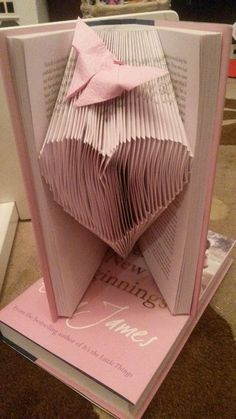 This was a gift for my Auntie, paper folded heart and a copy of the used book. Butterfly was from Paper Butterflies - See me 'bought' album