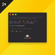 Have you ever had trouble writing out the same filtering function for arrays again and again to remove duplicates? Did you know that you can do the same by simply combining the spread operator with a new Set? Doesn't get any shorter than this Learn Html, Html Css, Programming Languages, Computer Technology, Interview Questions, Java, Web Development, Web Design, How To Remove