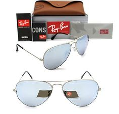 New Authentic #RAY-BAN Sunglasses RB 3025 019/W3 58MM (Made In Italy) Made In : ITALY Frame Color : MATTE SILVER Brand : Ray Ban Gender : Unisex Style : Aviator ...