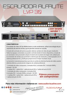 El escalador de vídeo LVP de Alfalite tienen un alto rendimiento y se caracteriza por su alta calidad de imagen. Utiliza la tecnología de procesamiento de señal de 30 bits, que le permite conectar en cascada. A través de la entrada de bucle se pueden obtener señales de vídeo de gran resolución. Todos los equipos conectados se pueden controlar desde este dispositivo, a través de un solo botón.
