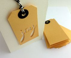 A simple but elegant tag made with Savvy's joy die.