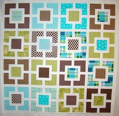 Garden Fence quilt top by sewcraftyjess, via Flickr