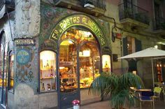 Escribà Pastry Shop, in Barcelona, is right on La Rambla close to the market.