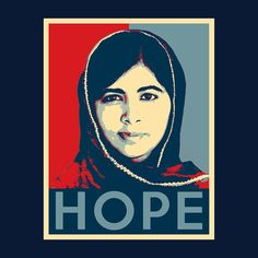 Malala Yousafzai Hope Men's T-Shirt Slogan Design, Malala Yousafzai, Funny Slogans, Make Ready, Large White, Mens Tees, Heather Grey, Digital Prints, This Is Us