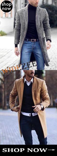 Mens Lapel Plaid Long Sleeve Fashion Coat Source by Gents Fashion, Blazer Fashion, Fashion Coat, Fashion Outfits, Mature Mens Fashion, Mens Fashion Suits, Stylish Men, Men Casual, Designer Suits For Men
