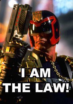 Judge Dredd. Awesome movie. :)