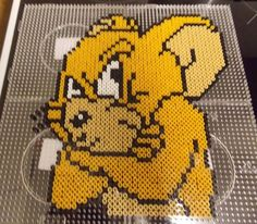 Jerry from Tom and Jerry in Hama beads