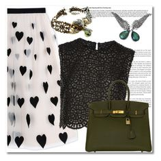 """""""#2"""" by aida-nurkovic ❤ liked on Polyvore featuring Alice + Olivia, Costarellos and Hermès"""