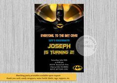Batman Birthday Invitations, Batman Birthday Party Invitations, DIY Printable, Batman Party Supplies, Super Heroes Invitations by PartysuppliesDesign on Etsy https://www.etsy.com/listing/463486532/batman-birthday-invitations-batman