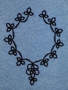 collar or necklace - a russian pattern from a book I found on picasa web. black cotton thread. for sale - contact   e.b.erikssons@gmail.com