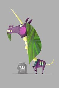 Zombie Unicorn! Buy me this print, please. :)