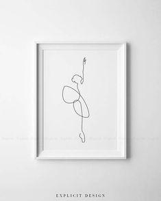 Printable Abstract Ballet Set of One Continuous Line Print, Dancing Artwork, Original Minimalist Dance Poster, Drawing Wall Art Gallery Ensemble Ballet abstrait imprimable de 3 une ligne continue Dancing Drawings, Art Drawings, Tanz Poster, Minimal Art, Art Minimaliste, Kunst Tattoos, Art Gallery, Poster Drawing, Ouvrages D'art