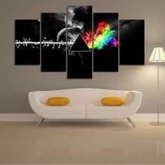 Pink Floyd: The Dark Side of the Moon - 5 Piece Canvas Painting-Canvas-TEEPEAT  #prints #printable #painting #empireprints #teepeat