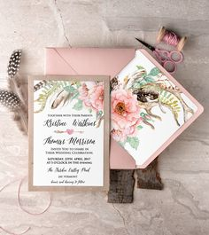 WEDDING INVITATIONS watercolor