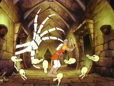 Dragon's Lair, the very first Laserdisc Video Game.