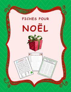 Fiches pour NOËL.  3 fiches pour pratiquer le vocabulaire de Noël.