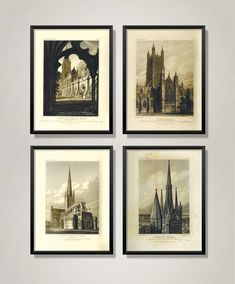 Medieval Gothic, Victorian Gothic, Vintage Architecture, Architecture Illustrations, Gothic Artwork, Medical Art, Botanical Art, Vintage Flowers, Large Prints