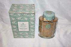 Vintage Coty Chypre Perfume Bath Salts New in Original Box Huge oz! Musk Oil, L'artisan Parfumeur, Display Boxes, Bath Salts, Glass Jars, Perfume Bottles, Fragrance, The Originals, Vintage
