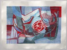 ROBERTO BURLE MARX, Litografia sobre papel, 56,5x76cm, 90/90, `Trombetas I`, 1985, acid, sem moldura