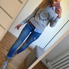 Casual Sunday look Mode Outfits, Chic Outfits, Fall Outfits, Fashion Outfits, Womens Fashion, Fashion Tips, Look Fashion, Winter Fashion, Korean Fashion
