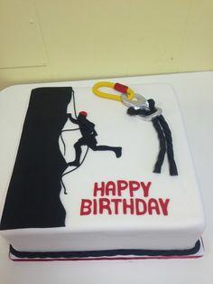 Rock Climbing birthday cake                                                                                                                                                                                 More